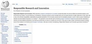 RRI-Wikipedia page published